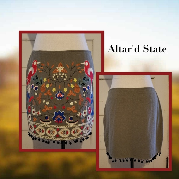 e2a612793ac Altar d State Stitched Floral Skirt